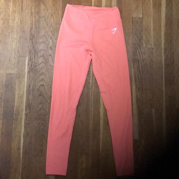 3a9c1d5f0da41 Gymshark Pants - Gymshark Peach Coral Dreamy Leggings - size small.